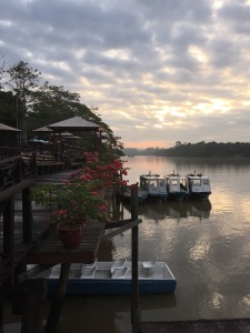 Morning view from the Kinabatangan Riverside Lodge
